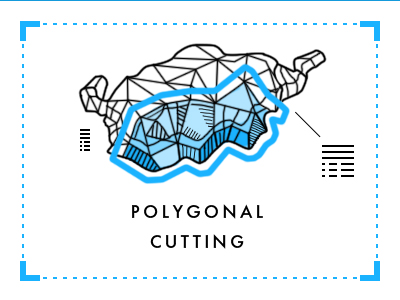 Polygonal cutting