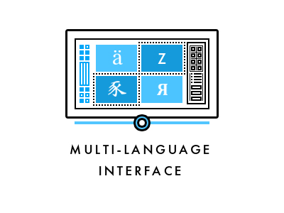 Multi-language interface